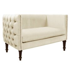 Regal Nail Button Tufted Settee Loveseat