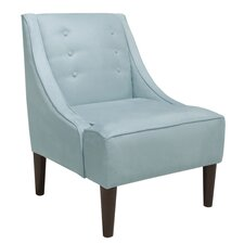 Swoop Velvet Arm Chair