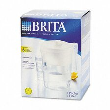 Brita Classic Pour-Through Water Filter Pitcher (Set of 4)