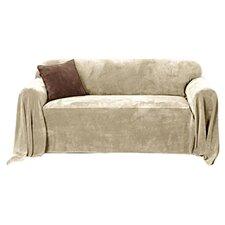 Plush Throw Sofa Slipcover