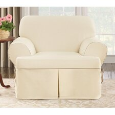 Cotton Duck Club Chair T-Cushion Slipcover