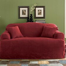 Soft Suede Loveseat Slipcover (T- Cushion)