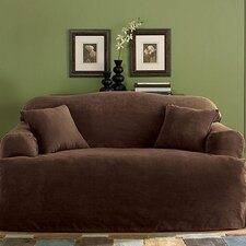 Soft Suede Sofa Slipcover (T- Cushion)