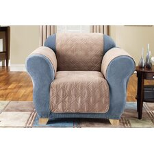 Soft Suede Furniture Friend Chair Cover in Taupe