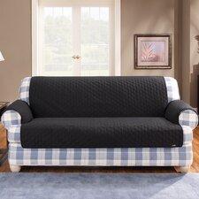 Cotton Duck Furniture Friend Loveseat Cover in Black