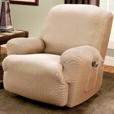 Stretch Stripe Recliner Slipcover in Sand (T-Cushion)