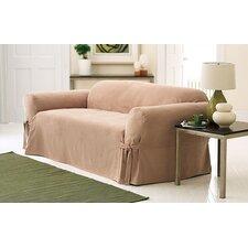 Soft Suede Sofa Slipcover (Box Cushion)