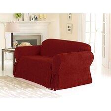 Soft Suede Sofa Skirted Slipcover