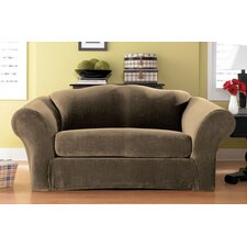 Stretch Pique Separate Seat Sofa Slipcover