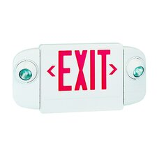 Exit/Emergency Combo Halogen Light in Red