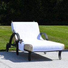 Chaise Lounge Cover with 3 Side Accessory Pockets