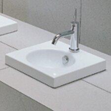 East Square Semi Recessed Bathroom Sink