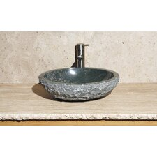 Oval Vessel Bathroom Sink with Broken Edge