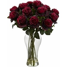 Blooming Roses with Vase