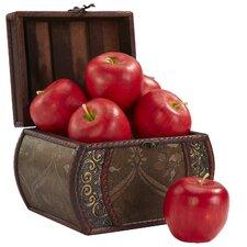 Faux Apple Sculpture (Set of 6)