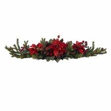 Poinsettia & Berry Centerpiece