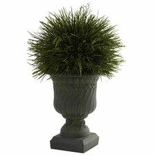 Nearly Natural Potted Grass Desk Top Plant in Urn