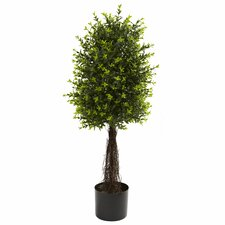Nearly Natural Ixora Round Topiary in Pot