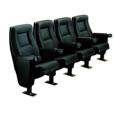 Contour Row of Four Rocker Home Theater Chairs
