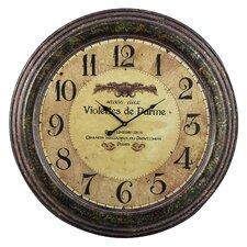 """Oversized 24"""" Violettes De Parme Wall Clock"""