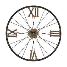 "Oversized 24"" Iron Wall Clock"