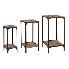 3 Piece Plant Stand Set with Bottom Shelf