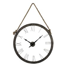 """Oversized 36"""" Hung On Rope Wall Clock"""