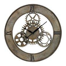 "Oversized 30"" Industrial Cog Wall Clock"
