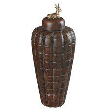 Tall Stag Decorative Jar