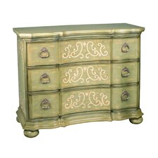Argent Scroll 3 Drawer Chest