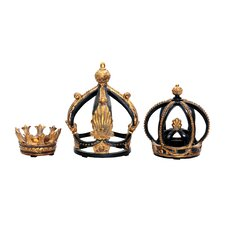 3 Piece Crown Sculptures