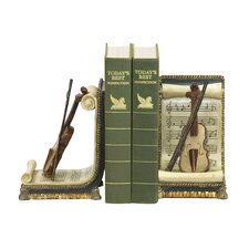 Violin and Music Book Ends (Set of 2)