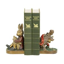 Tortoise and Hare Book Ends (Set of 2)