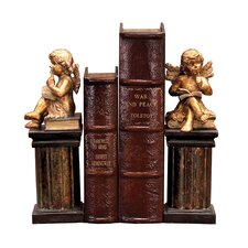 Thinking Cherub Book Ends (Set of 2)