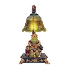 """Resting Queen Frog 12.25"""" H Table Lamp with Bell Shade"""