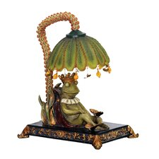 """Sleeping King Frog 12.25"""" H Table Lamp with Bowl Shade"""