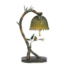 """Perching Finch 17"""" H Table Lamp with Bowl Shade"""