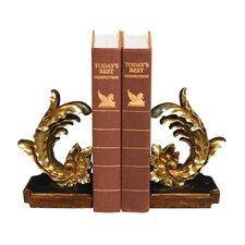 Cresting Leaf Book Ends (Set of 2)