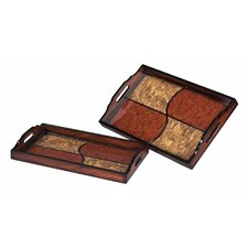 Quartered Trays (Set of 2)