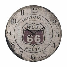 """Oversized 24"""" Route 66 Wall Clock"""