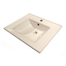 Rectangular Single Faucet Hole Drop-In Lavatory Sink
