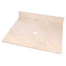 "Natural Stone 25"" Stone Vanity Top for Vessel Sink"