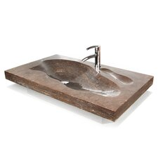 "Natural Stone 37"" Grand Tahoe Vanity Top with Integrated Sink"