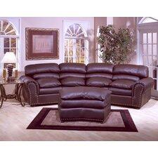 Williamsburg 3 Seat Leather Living Room Set