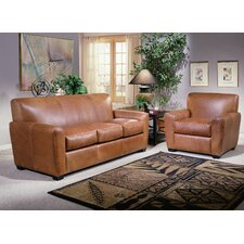 Jackson Leather Sofa Set