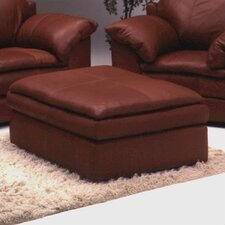 Encino Leather Cocktail Ottoman