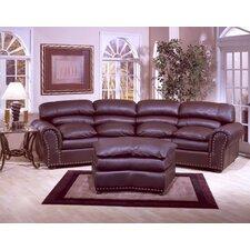 Williamsburg 4 Seat Conversation Leather Sofa Room Set