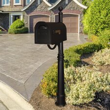 Classic Curbside Mailbox with Ashland Mailbox Post Unit