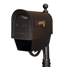 Classic Curbside Post Mounted Mailbox with Newspaper Tube