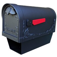 Floral Curbside Mailbox w/Paper Tube